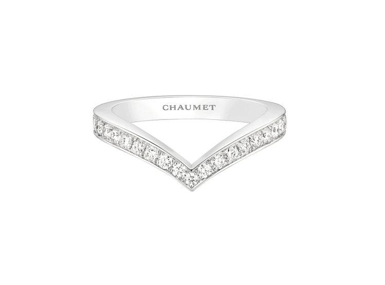 Joséphine Aigrette 18K白金鑲鑽戒指,約13萬7,000元...
