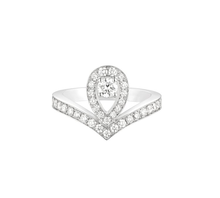 Joséphine Aigrette 18K白金鑲鑽戒指,約26萬9,000元...