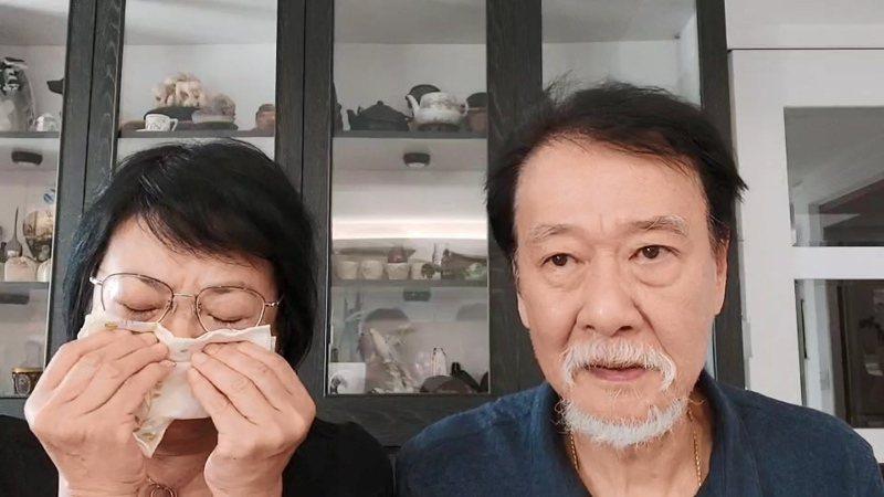 台灣女學生曾以琳去年在韓國首爾遭酒駕者撞死,嫌犯一審判8年,曾的雙親錄影片回應時忍不住落淚。記者林伯驊/翻攝
