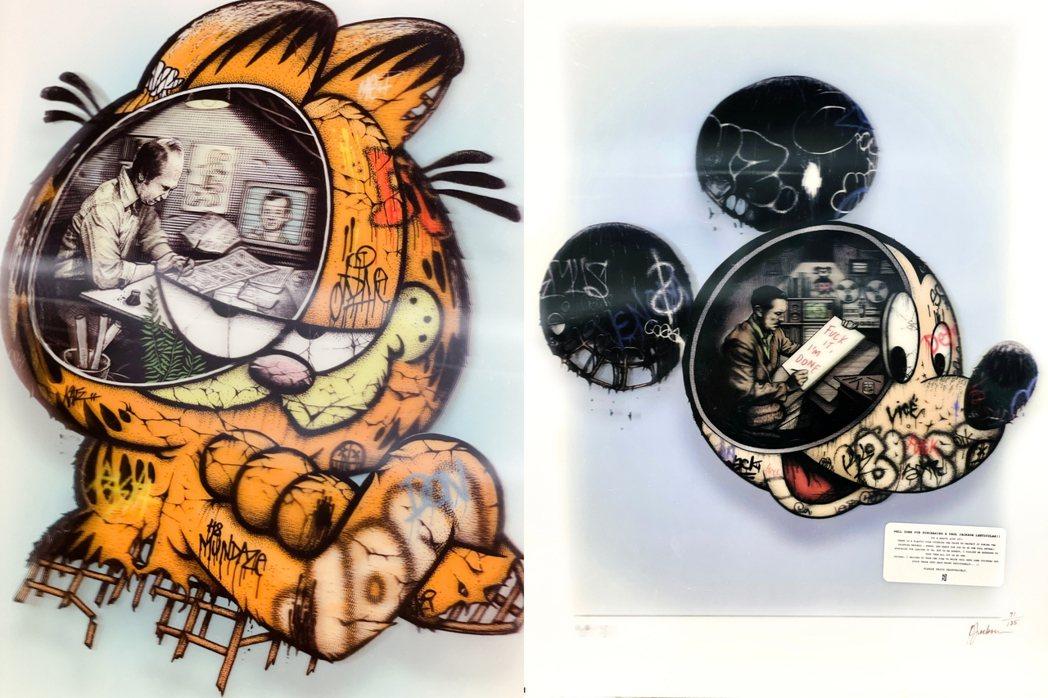 Paul Jackson 的 Garfield 3D Print(左)、Walt...