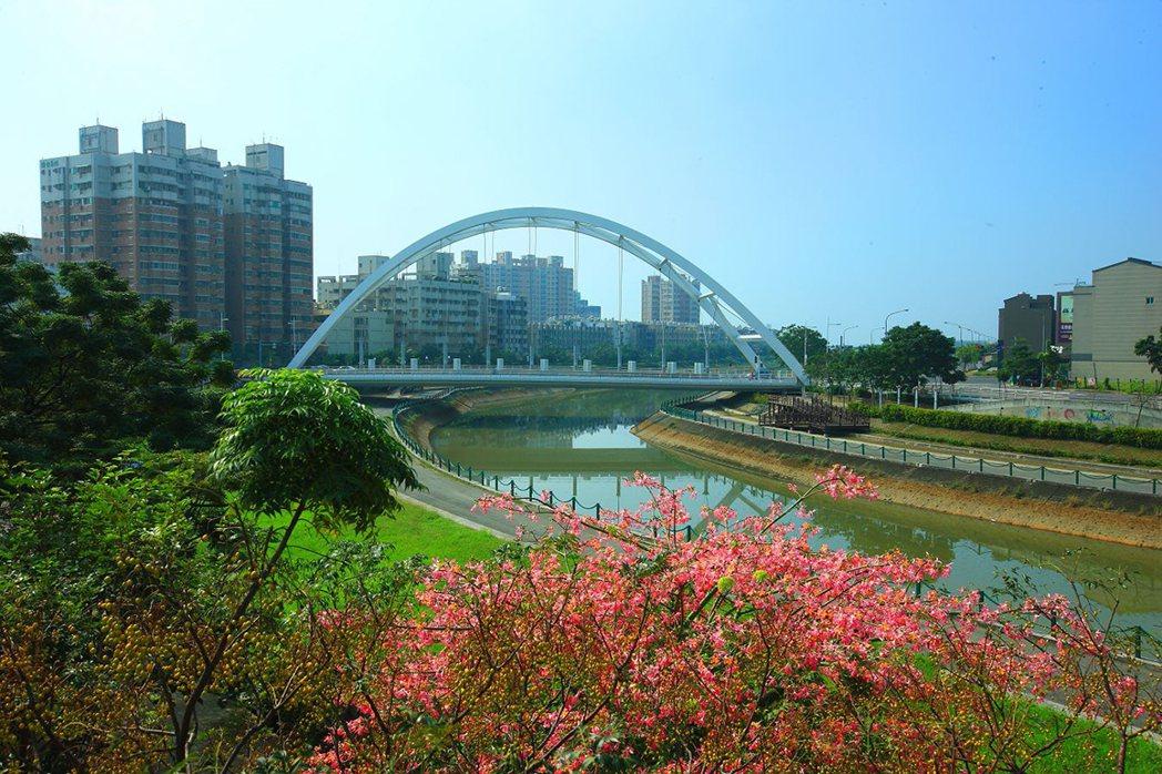 益群橋生活綠帶。圖片提供/好事威 陳建程