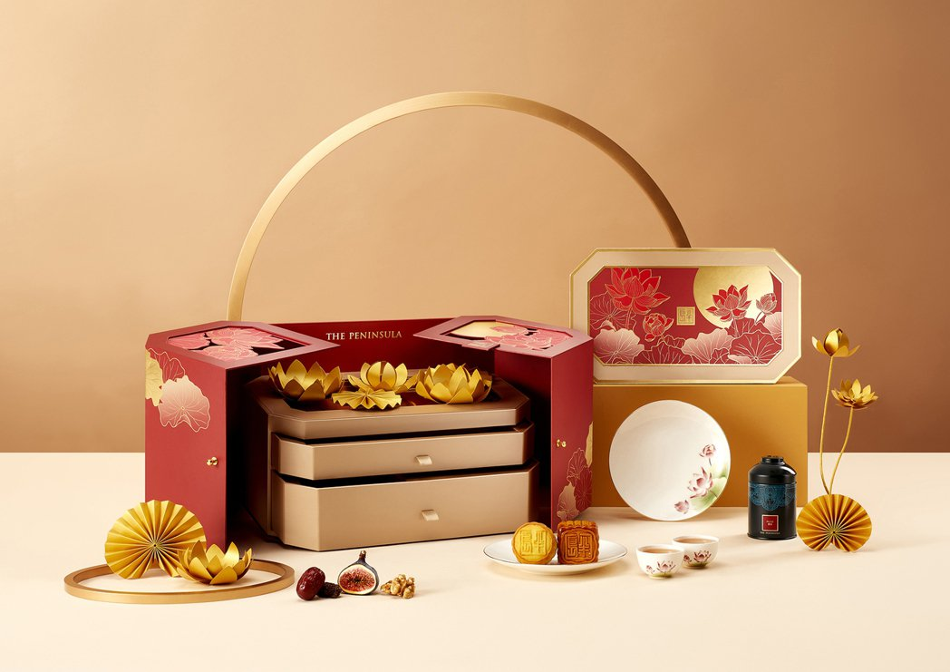 今年中秋月餅禮盒已開始接受預購中。 半島精品店台灣/提供
