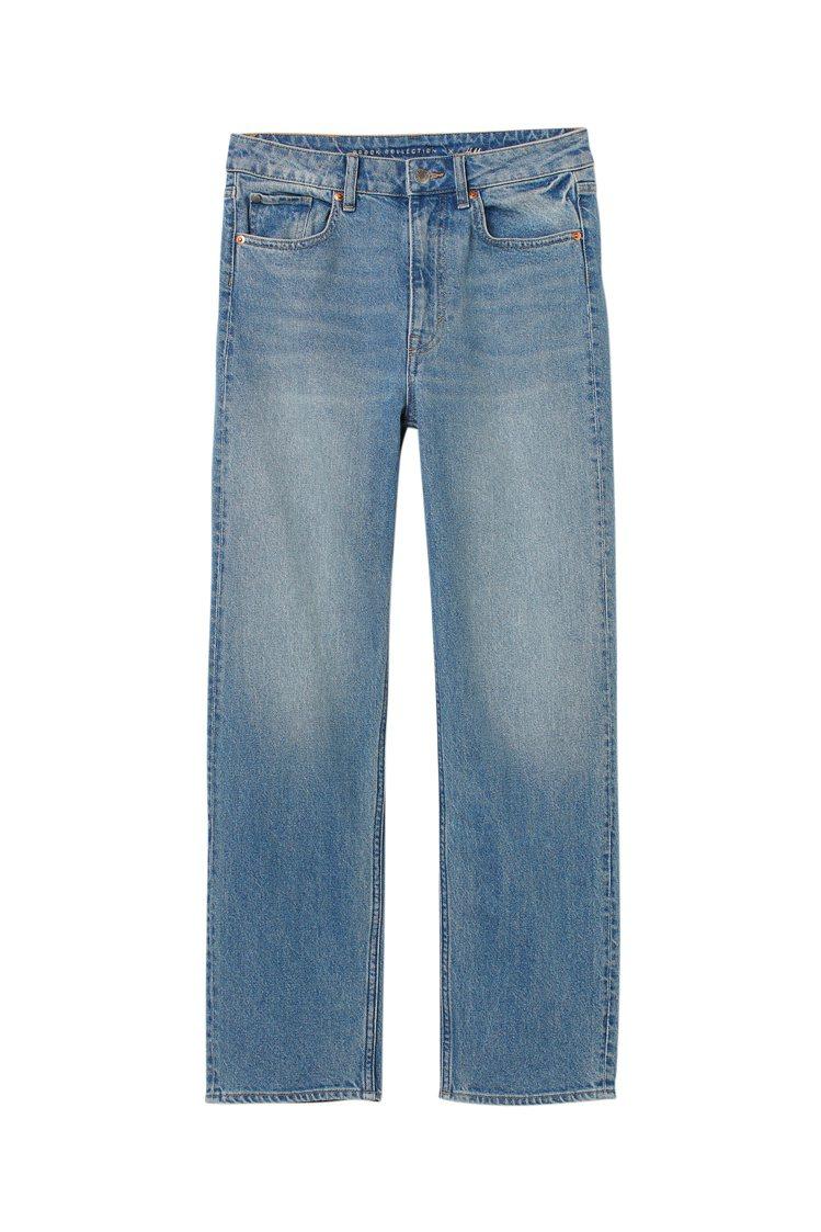 H&M聯名Brock Collection系列牛仔褲999元。圖/H&a...