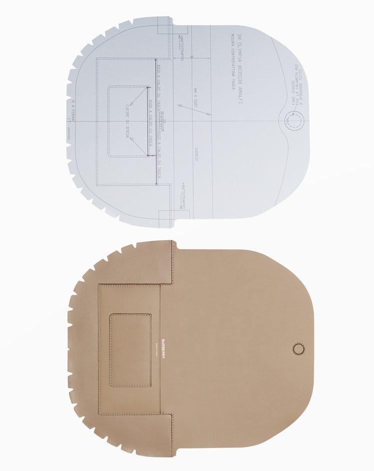 每個Olympia 包款都是由二十多種獨立的光滑皮革和柔軟皮革裁片構成。圖/BU...