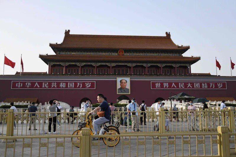 北京天安門廣場。圖/法新社