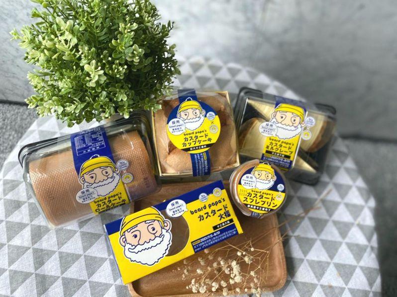 全聯We Sweet首次攜手日系人氣泡芙專賣店beard papa's 5款獨家聯名甜點。圖/全聯福利中心提供