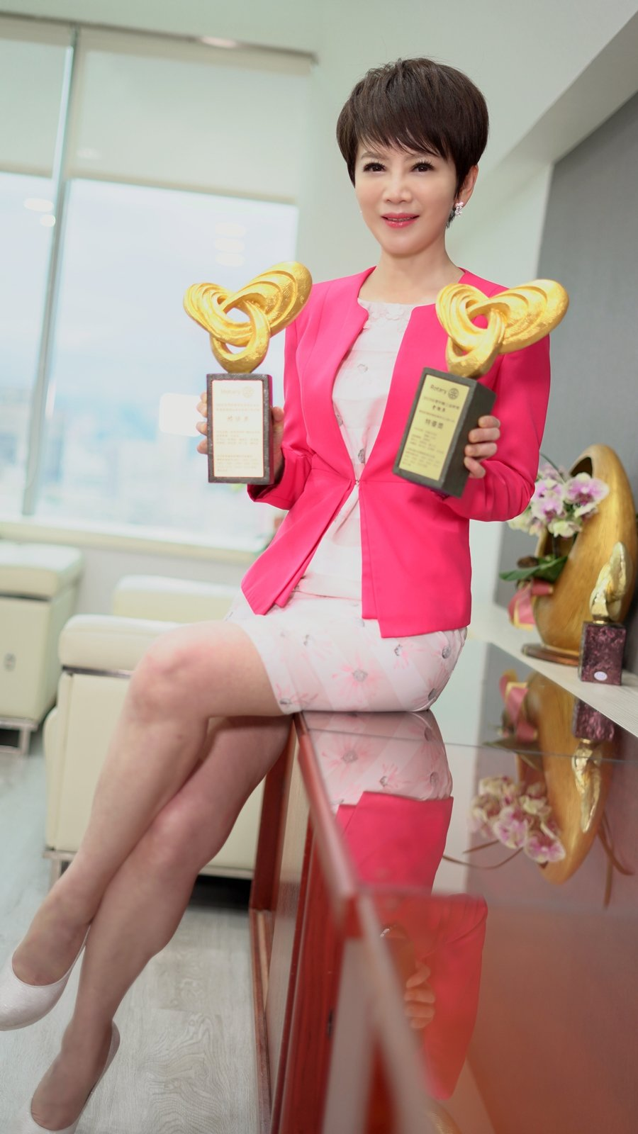 陳雅琳在疫情期間接下大任,拿到新聞獎對她來說是強心針。圖/華視提供