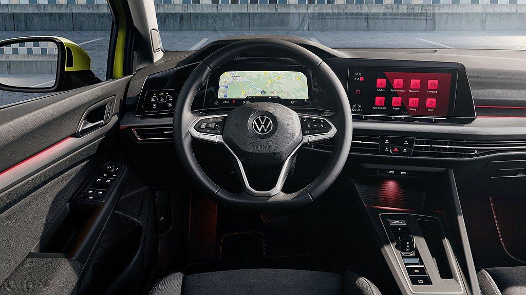 全新第八代福斯Golf導入新世代數位化駕駛導向座艙,全車系標配Digital C...