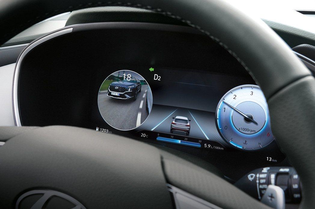 12.3吋全尺寸高解析度數位儀表,並搭配BVM盲區影像輔助系統。 圖/南陽實業提...