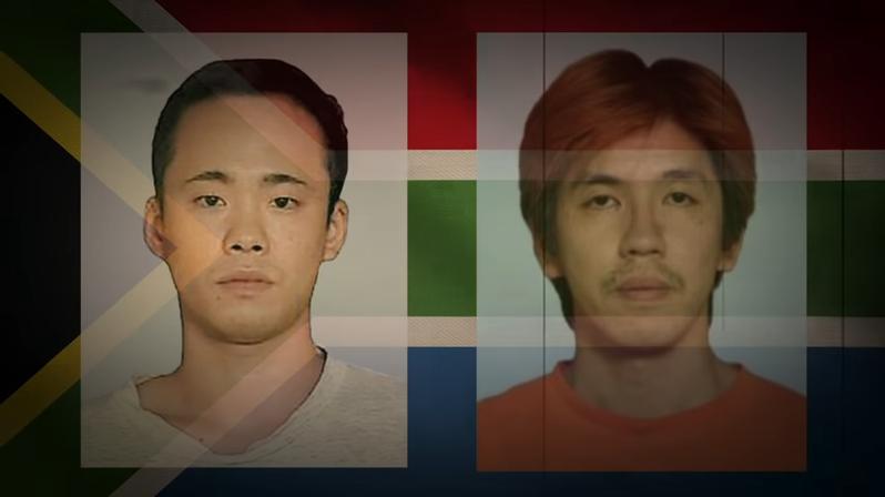 2003年紙谷惣(左)和松井知行(右)因為金錢糾紛,殺害一位名為古川信也的俱樂部店長,並將其分屍後逃離日本。近期紙谷才因為財產散盡,向日本大使館自首。圖擷取自youtube