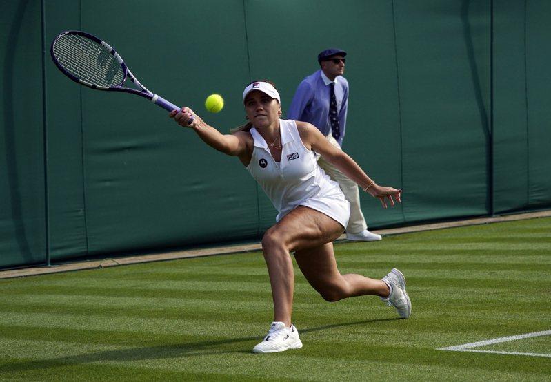 美國網球女將珂寧溫網止步第二輪。 美聯社