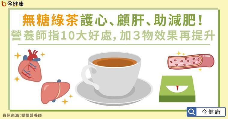 綠茶護心、顧肝、助減肥!營養師指10大好處,加3物效果再提升