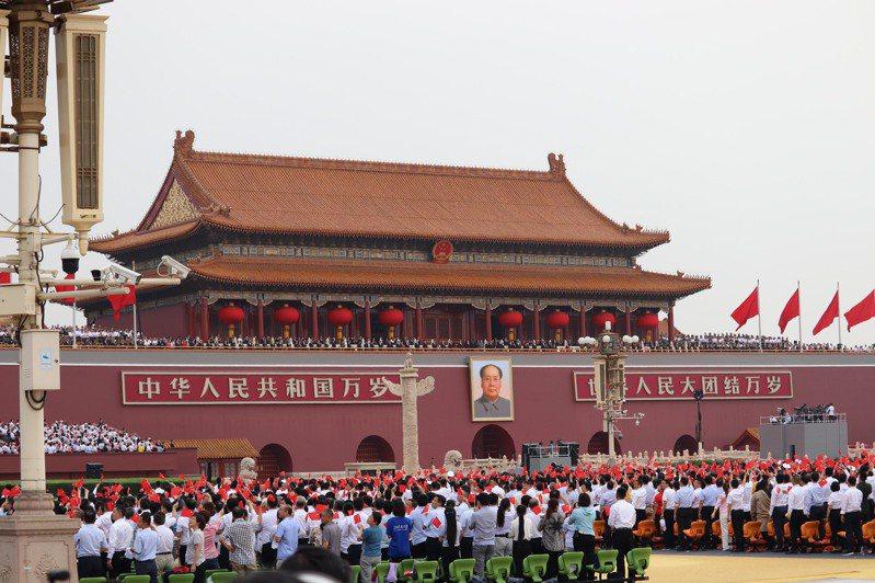 中共黨慶大會今日八時舉行,中共總書記習近平率中共高層出席。記者呂佳蓉/攝影