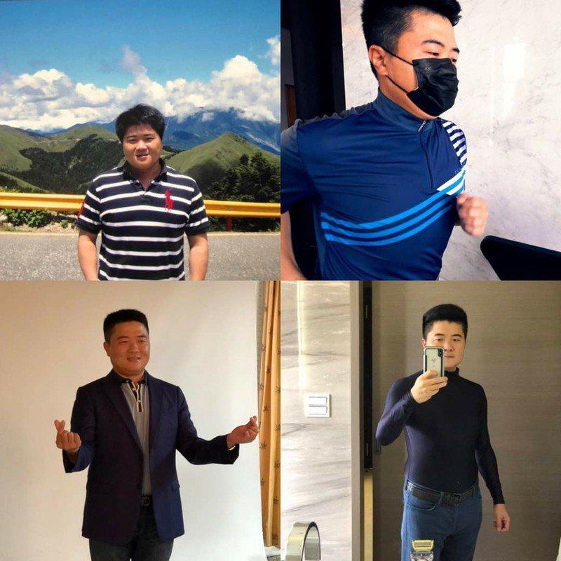 前立委顏寬恒今天在臉書說,自己終於減重成功,並PO上自己減重前後照片。圖/取自顏寬恒臉書