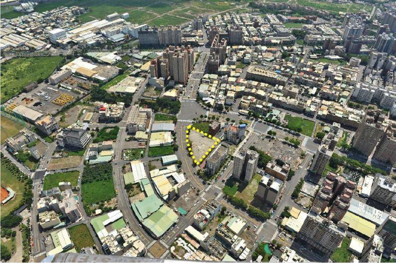 高雄市福山段社會住宅,地點位於左營博愛四路及華夏路口,面積0.31公頃。圖/高市都發局提供