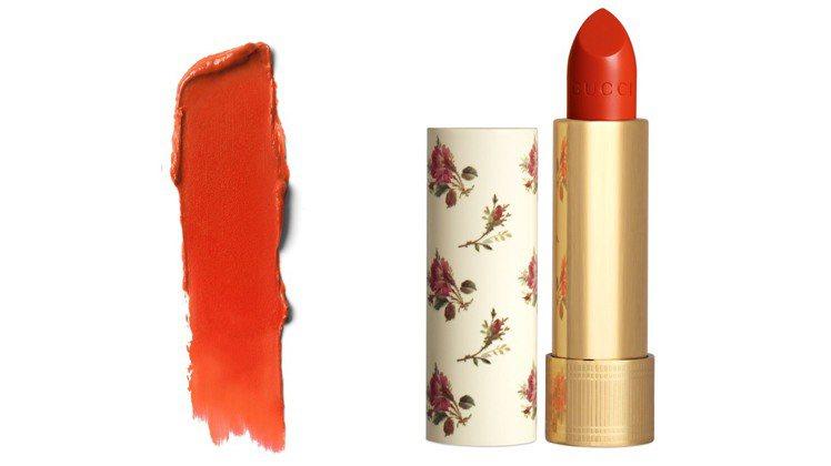 薄紗唇膏新色#518艾米緋頰。圖/GUCCI提供