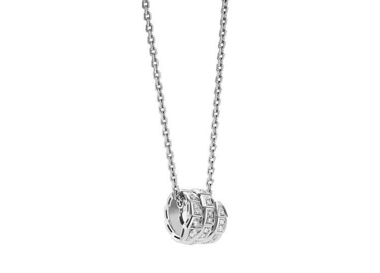 BVLGARI Serpenti Viper白K金鑽石墜鍊,約21萬3,000元...