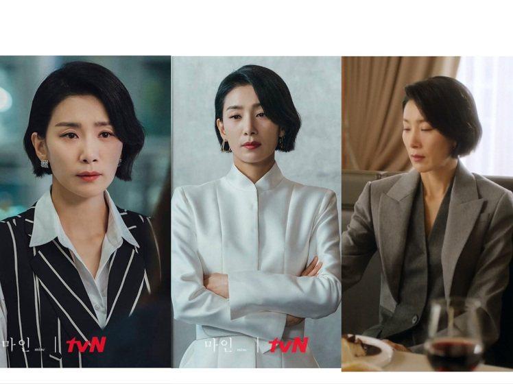 金瑞亨在《我的上流世界》穿搭表現挺拔帥氣的知性品味。圖/取自tvN Drama臉...