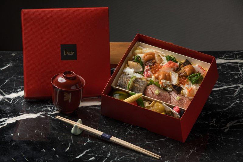 綜合海鮮散壽司。晶英提供