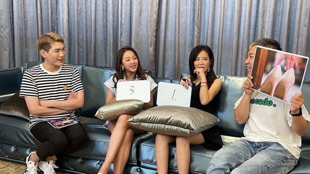 賴慧如(左)、陳仙梅上「娛樂超skr」節目宣傳新戲。圖/民視提供
