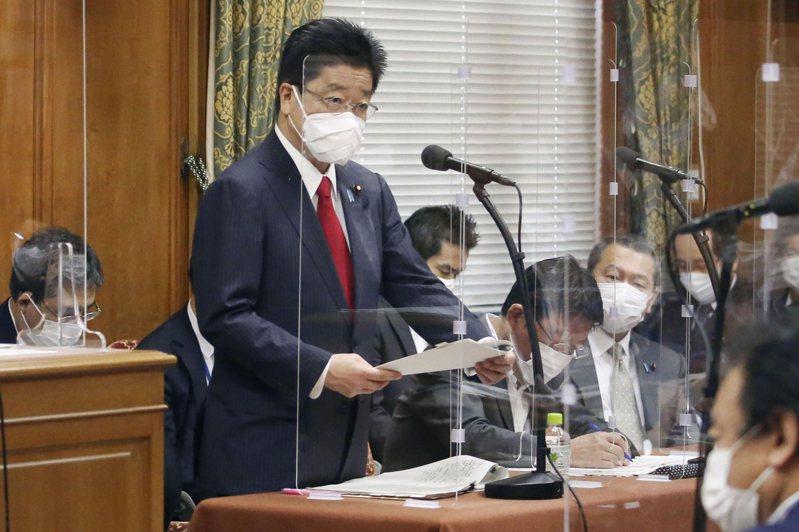 日本政府發言人、內閣官房長官加藤勝信。美聯社