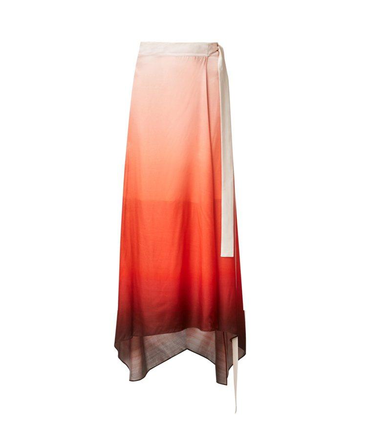 AllSaints Vinia漸層長裙9,500元。圖/AllSaints提供