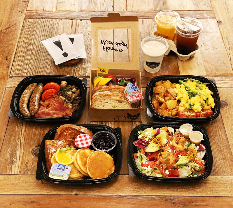 樂子the Diner的「媽咪賴床早午餐組合」,售價1,450元。圖/樂子the Diner提供。