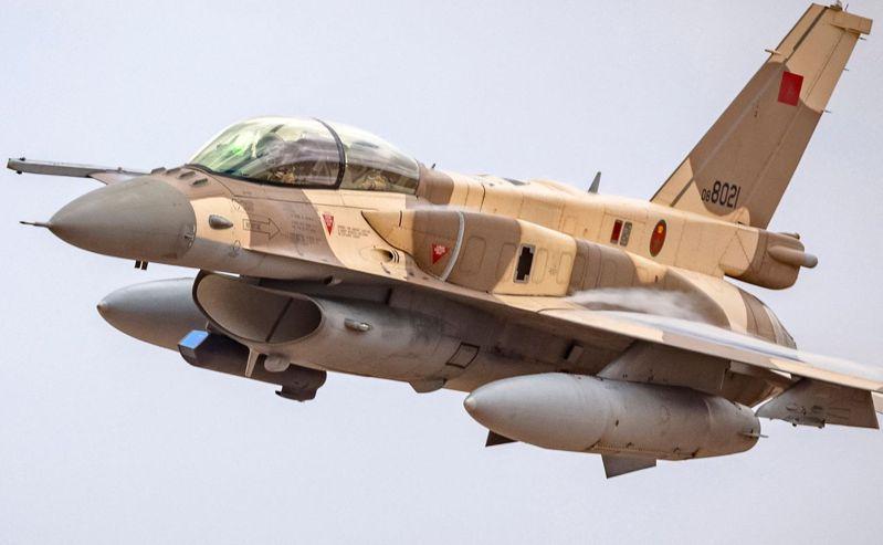 摩洛哥空軍也用F-16為主力戰機。法新社