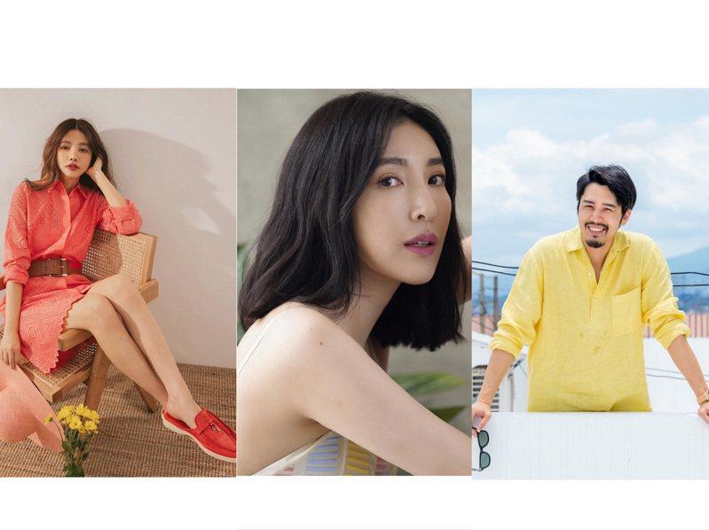 許路兒、胡宇威、楊謹華詮釋疫情期間的夏日度假儀式感穿搭。圖/取自IG