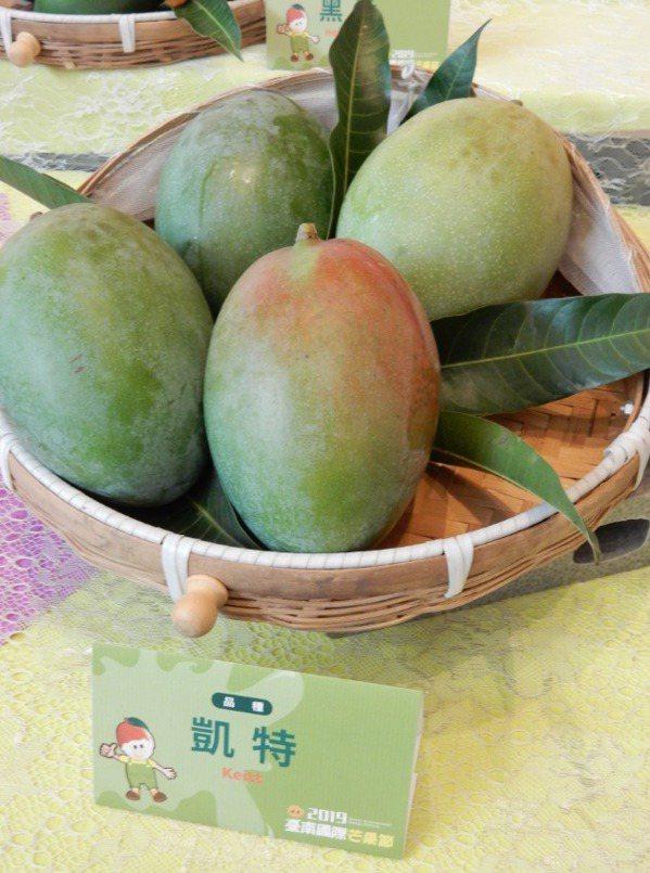 凱特芒果。 圖/台南區農改場提供