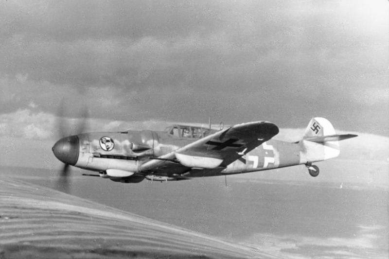 Bf 109示意圖。 圖/維基共享