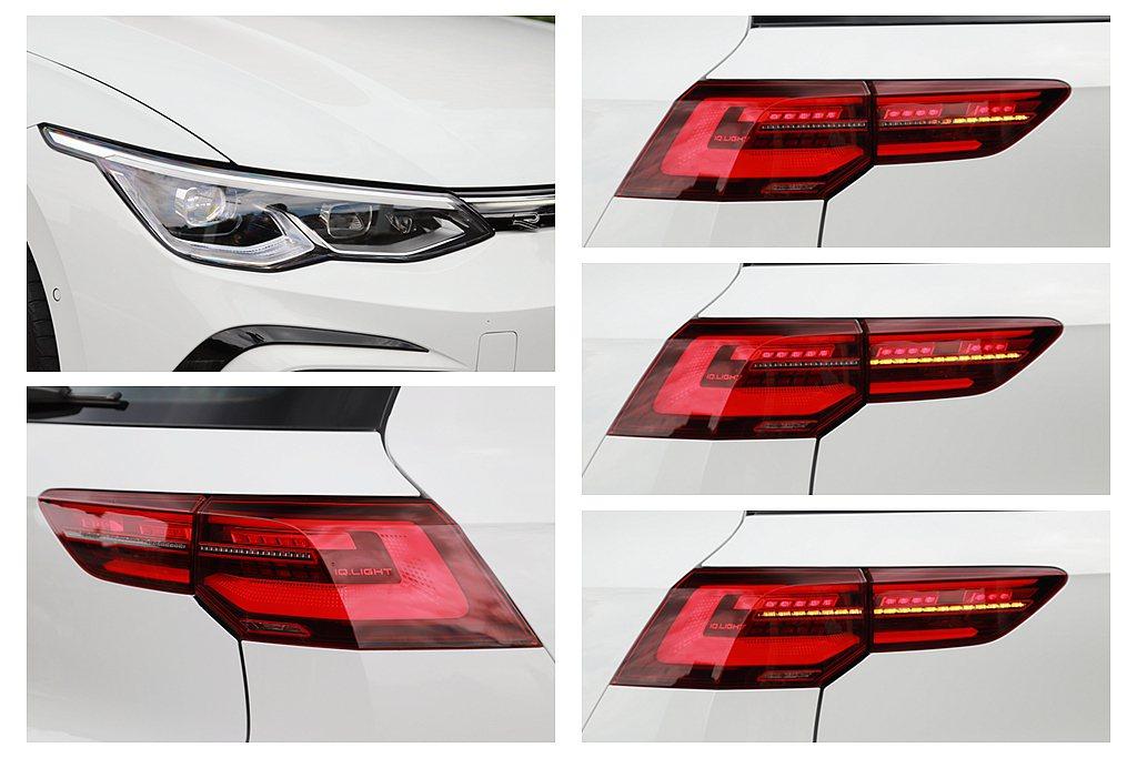 台灣導入銷售的全新第八代福斯Golf,前、後燈具皆為LED並具備光感應自動啟閉,...