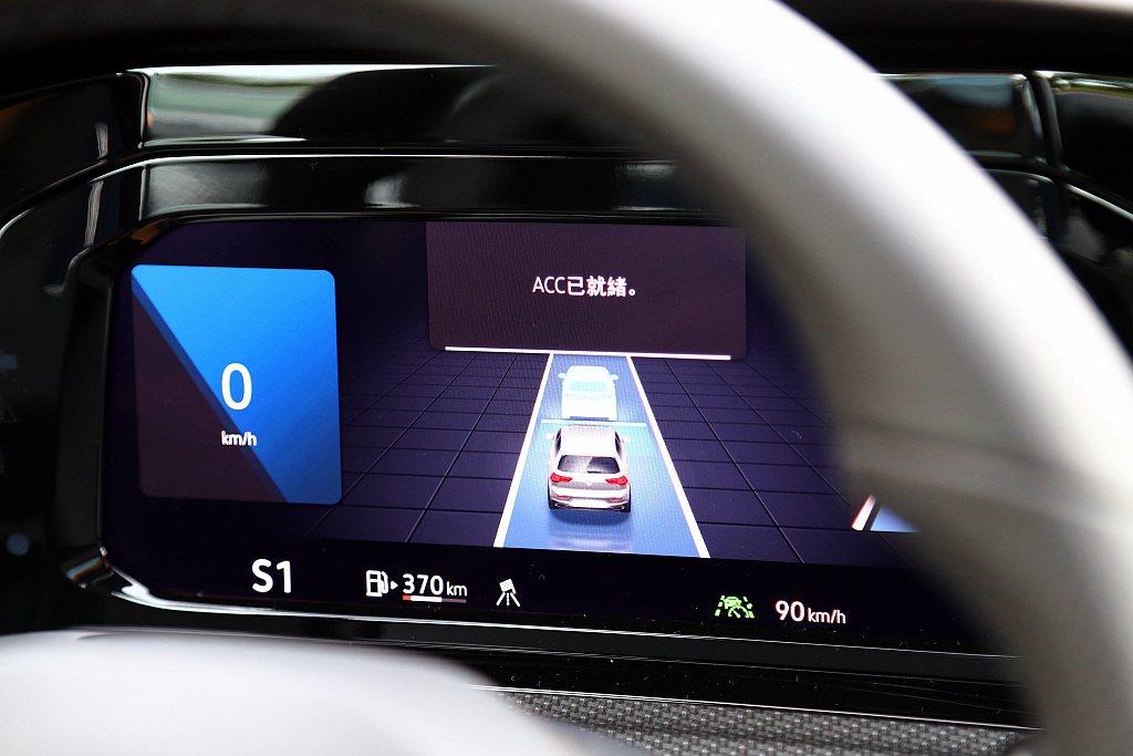 這套進階版主動式固定車距巡航系統,從過往停止等待3秒的時間增加到10秒之久,來增...
