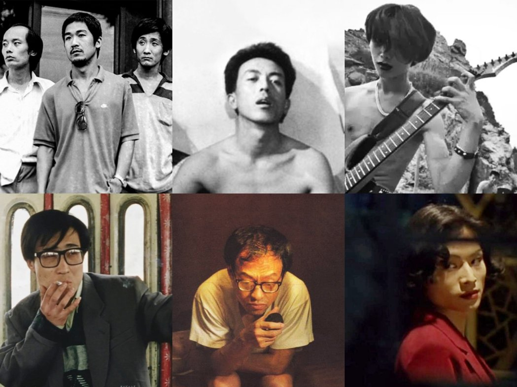 上排由左至右為《頑主》、《冬春的日子》、《北京雜種》;下排由左至右為《小武》、《黑炮事件》、《東宮西宮》電影劇照。 圖/微博、百度