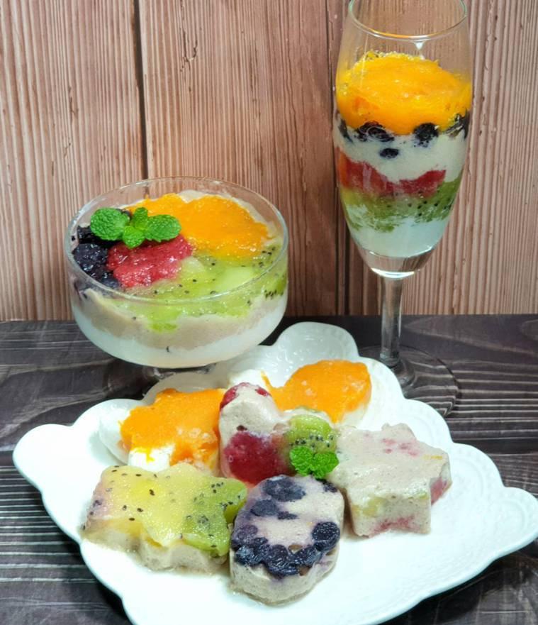 繽紛水果&香蕉鮮奶冰淇淋 圖/林芝蕙提供