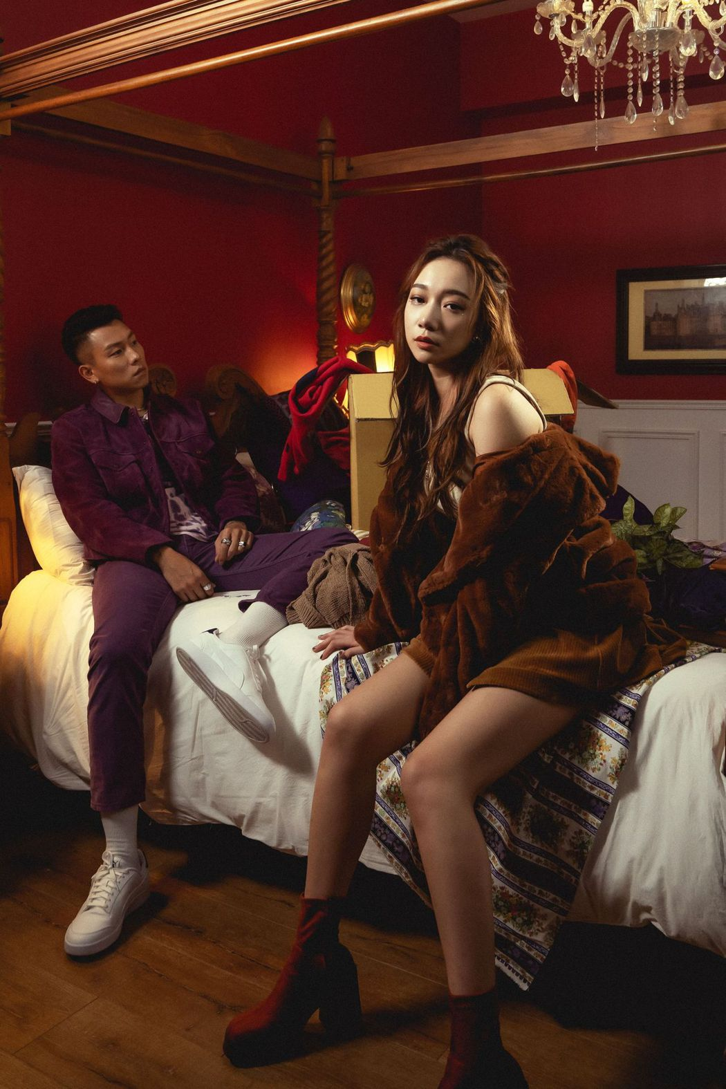 瘦子(左)與吳卓源認識多年,首度於音樂上合作。圖/華風數位提供