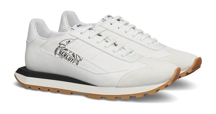 BERLUTI Graphic白色休閒鞋,34,500元。圖/BERLUTI提供