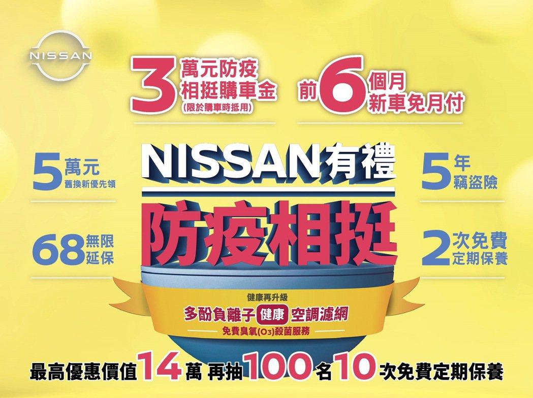 裕隆日產為滿足消費者「以車防疫」的移動需求,本月入主NISSAN國產全車系可享「...