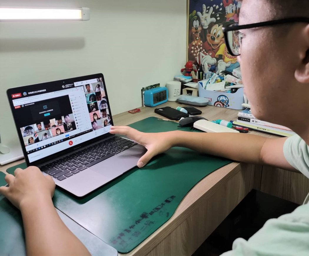 學生線上教學上課。線上教學示意圖。圖/聯合報系資料照片