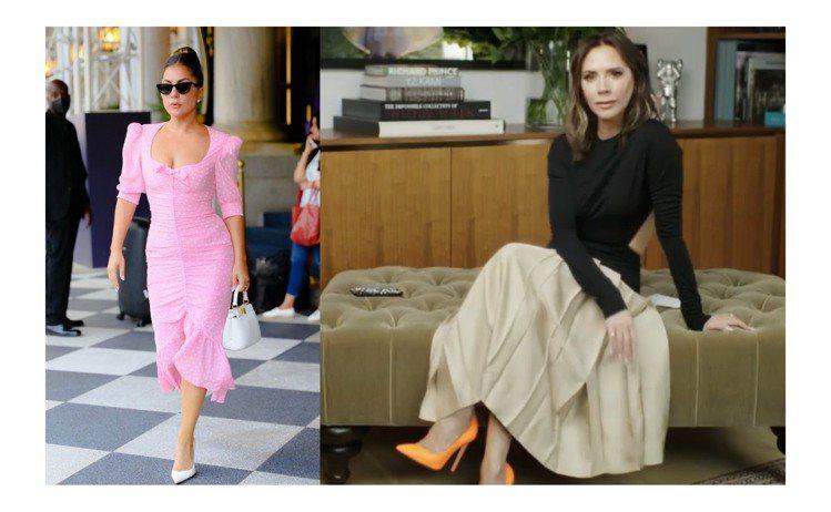 Lady Gaga和貝嫂都愛尖頭高跟鞋。圖/品牌提供、摘自IG
