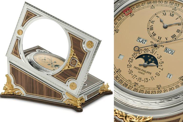 百達翡麗為2021年ONLY WATCH拍賣呈獻一件獨一無二的座鐘。圖/佳士得提...