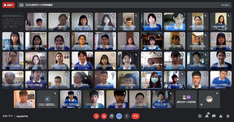 台中市明道中學克服技術問題,以3天時間完成5000人的線上考試。圖/明道中學提供