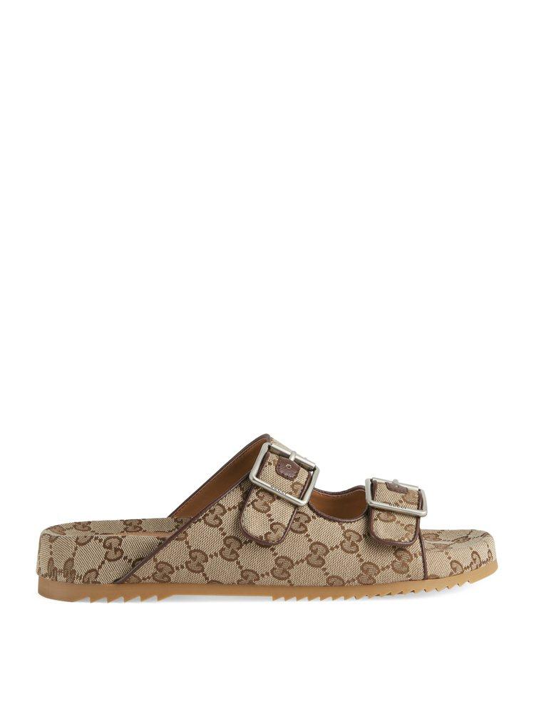 GG緹花男士帆布涼鞋,23,000元。圖/GUCCI提供