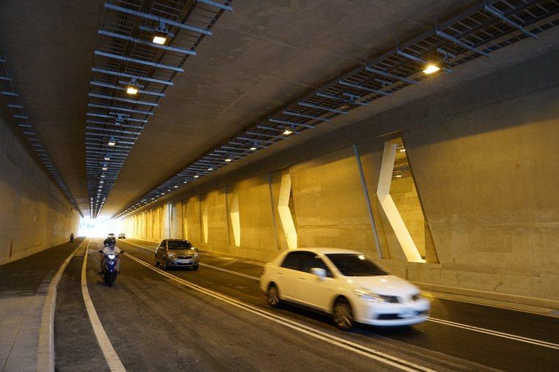 新北市淡水沙崙路隧道2日通車,但新北市交通局認為仍有缺失,希望公路總局改善後再通車。圖/公路總局提供