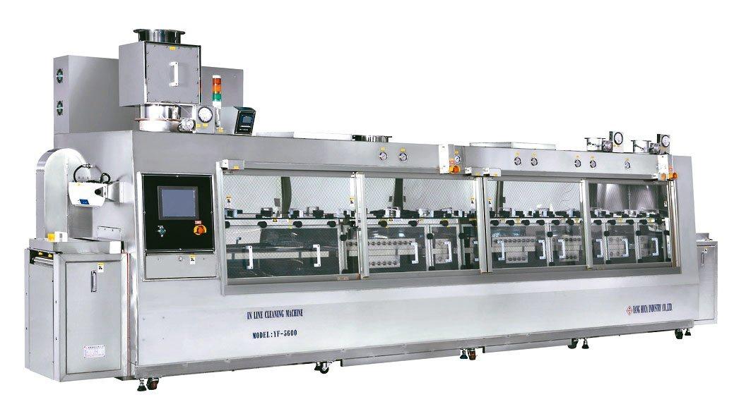 Flip-Chip雙軸連鎖清洗機(YF-5600)。揚發/提供