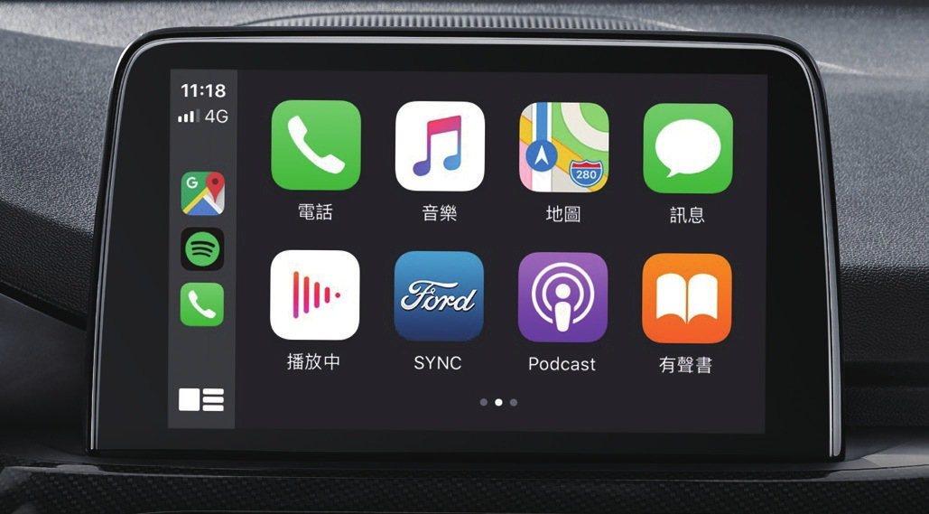 SYNC® 3 娛樂通訊整合系統結合導航圖資。 圖/福特六和提供