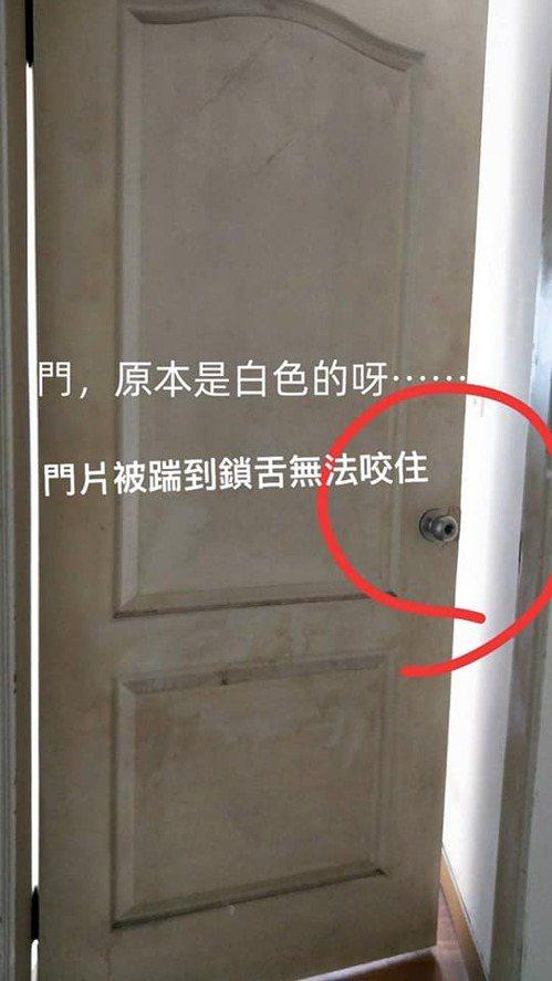 褐黃色的門原本是白色,鎖舌也無法使用。圖擷自爆怨2公社