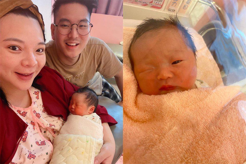 小甜甜(左)和老公女兒一家三口。圖/摘自臉書