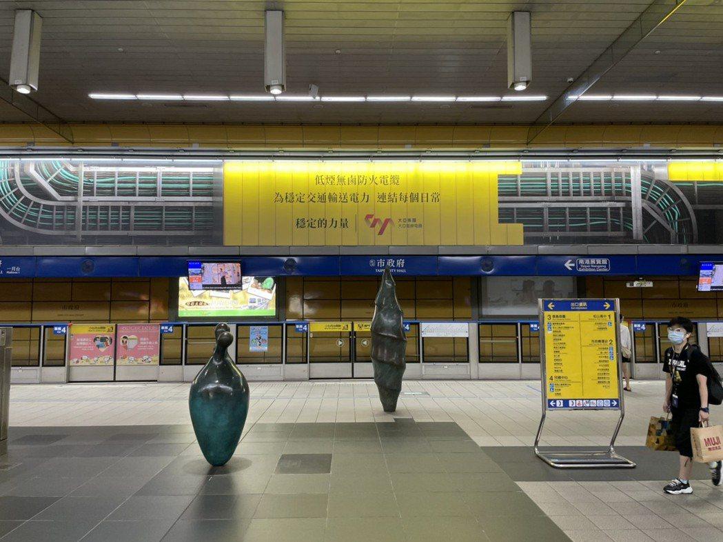 台北捷運市政府站-3D城市平面上刊實景照。大亞/提供