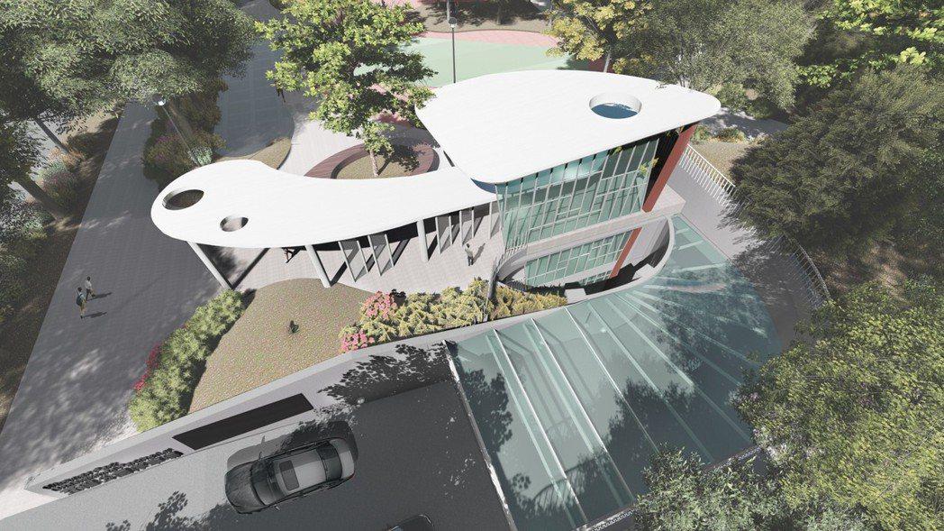 新北市將在五權公園興建地下停車場,可提供350個汽車停車位、50個機車停車位。圖...